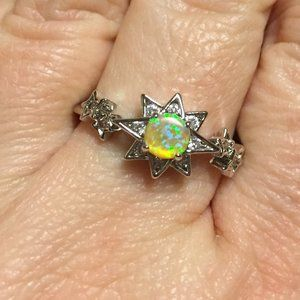 Fragrant Jewels Shooting Star Opal Ring 10 NWOT